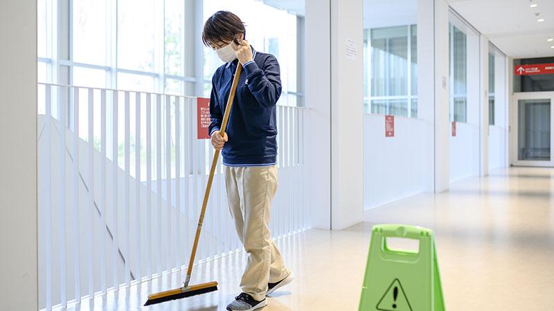 施設内の一般清掃